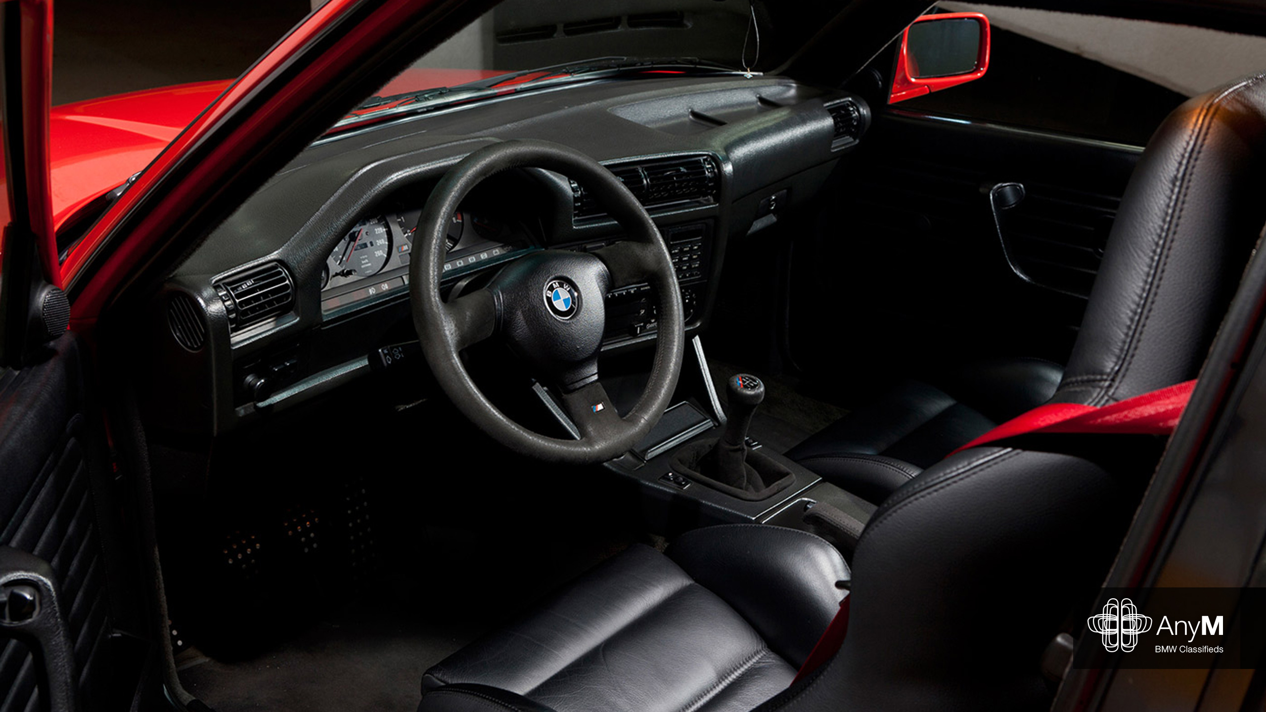 E30 M3 Wallpaper Sport Evolution Black Leather Interior
