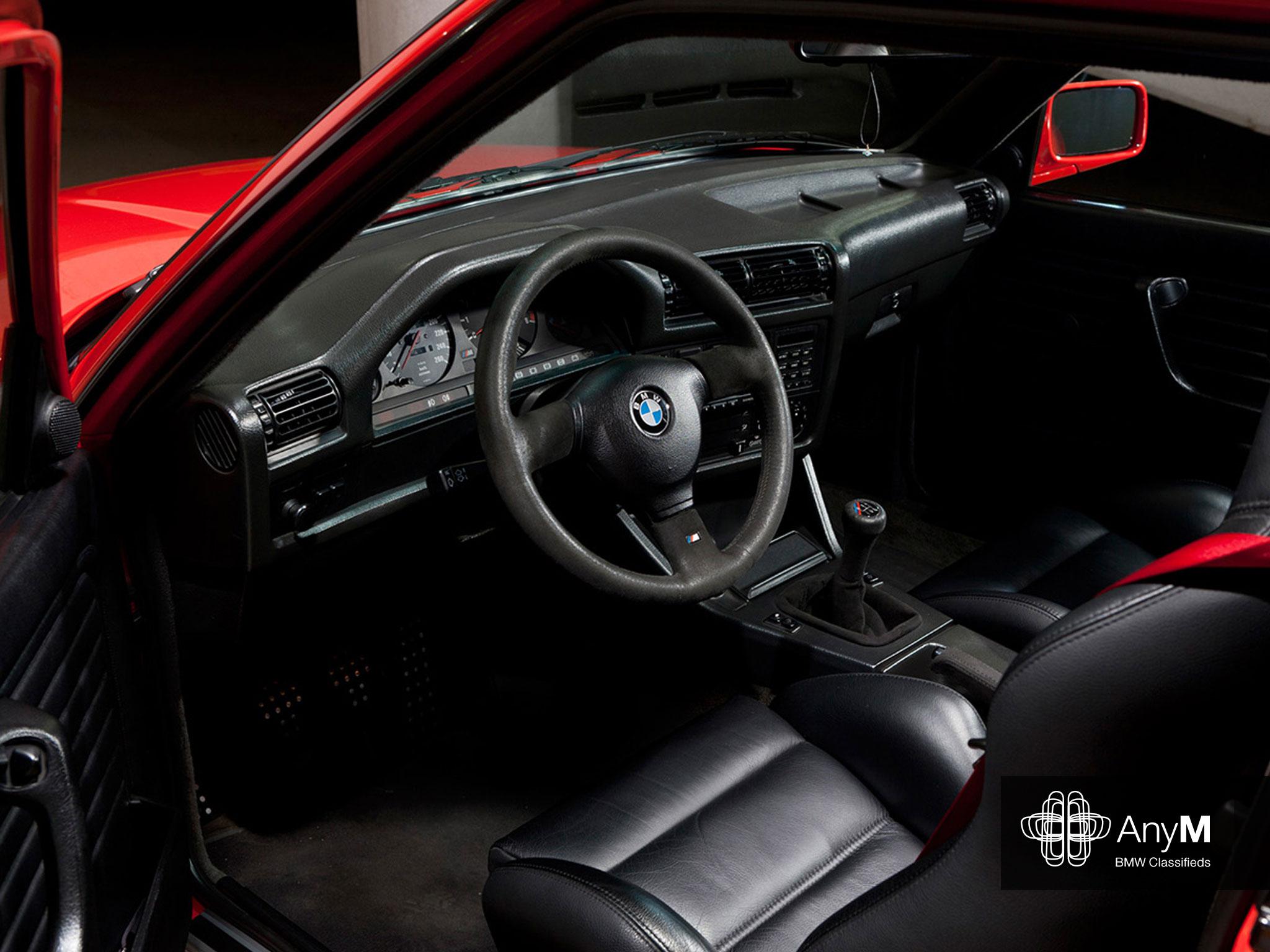 E30 M3 Wallpaper Sport Evolution Black Leather Interior